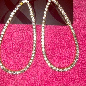 NY&Co New Gold tone w/rhinestone earrings